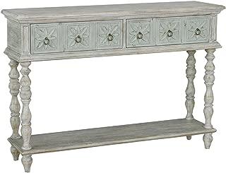 Pulaski Two Tone Drawer Console Table, White