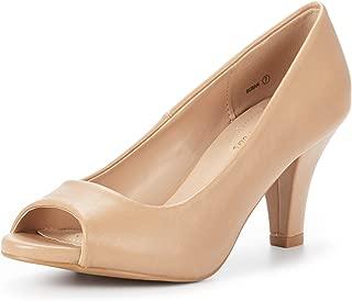 Women's Susan Fashion Peep Toe Heels Dress Pumps Shoes