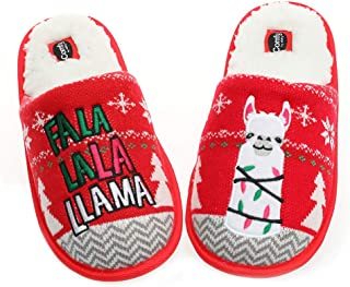 Unisex Flamingo Slippers Women's Fuzzy Plush Cozy Christmas House Shoes for Indoor Outdoor Man's Knitted Slippers