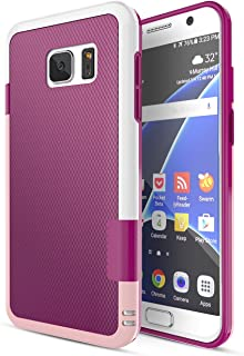 Galaxy S7 Case, TILL(TM) Ultra Slim 3 Color Hybrid Dual Layer Shockproof Case [Extra Front Raised Lip] Soft TPU & Hard PC Bumper Protective Case Cover for Samsung Galaxy S7 S VII G930 GS7 [Wine]