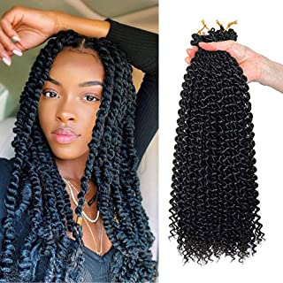 Flyteng 6 pcs passion twist hair 18 inch ombre crochet braids bohemian hair for passion twist braiding hair…
