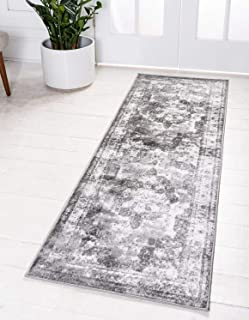 Unique Loom 3134090 Sofia Collection Traditional Vintage Beige Area Rug, 2' x 6'7 Runner, Gray