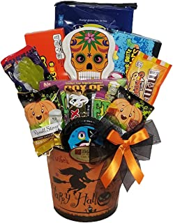 Delight Expressions BOO Bites Halloween Gift Basket - Chocolate and Candy Gift Basket for Kids