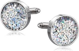 ANAZOZ Men's Jewelry, Stainless Steel Round Mens Cufflinks Elegant Style Business Party Accessories