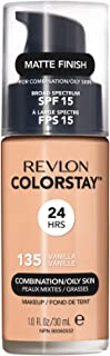 Revlon ColorStay Liquid Foundation For Combination/oily Skin, SPF 15 Vanilla, 1 Fl Oz