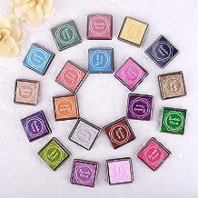 20 Stks Kleurrijke Ink Pad 20 Kleuren Regenboog DIY Craft Vinger Inktkussens voor Rubber Postzegels Kaart maken