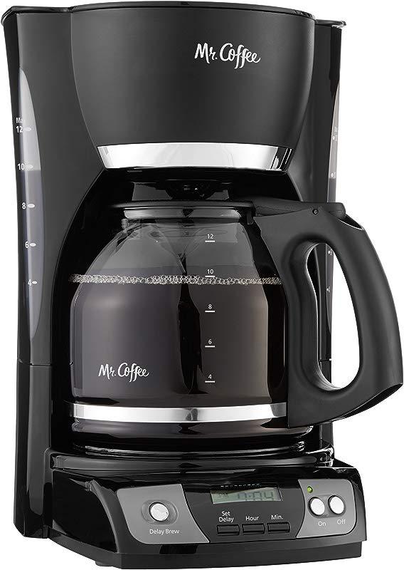 Mr Coffee Simple Brew 12 Cup Programmable Coffee Maker Black Renewed