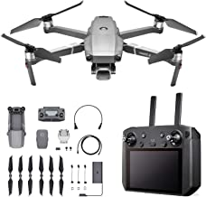 """DJI Mavic 2 Pro - Drone Quadcopter UAV with Smart Controller with Hasselblad Camera 3-Axis Gimbal HDR 4K Video Adjustable Aperture 20MP 1"""" CMOS Sensor, up to 48mph, Gray"""