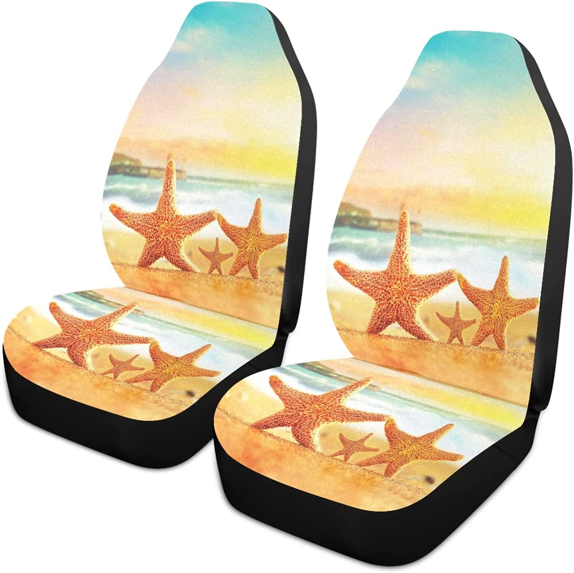 Sale price Oarencol Summer Family Starfish Beach Sandy Car Univ Easy-to-use Seat Covers
