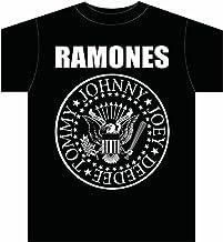 Camiseta Oficial Ramones Seal (Negro)