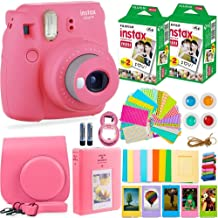 FujiFilm Instax Mini 9 Instant Camera + Fuji Instax Film (40 Sheets) + Accessories Bundle..