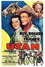 Posterazzi Utah Us Art Dale Evans Trigger Roy Rogers Gab Print by Hayes 1945 Movie Poster Masterprint, (24 x 36)