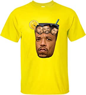 Mens Yellow Got Tea Ice Cube T Shirt