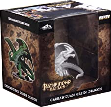 WizKids Pathfinder Deep Cuts Unpainted Miniatures: Gargantuan Green Dragon Toy