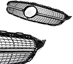 Diamond Radiator Grille Front Grill for for M-e-r-c-e-d-e-s B-e-n-z W205 S205 C205 A205 Diamond Front Grille Grill ABS