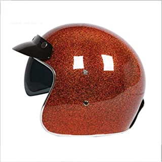Harley Fiberglass Motorcycle Helmet DOT Standard Certification/Scooter Bicycle Collision Helmet (Send Goggles),XL