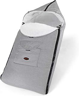 Babyfußsack Fußsack Babyschale Kinderwagen Buggy Winterfußsack Baby Schlafsack Winter Verschließbarer Waschbar Grau