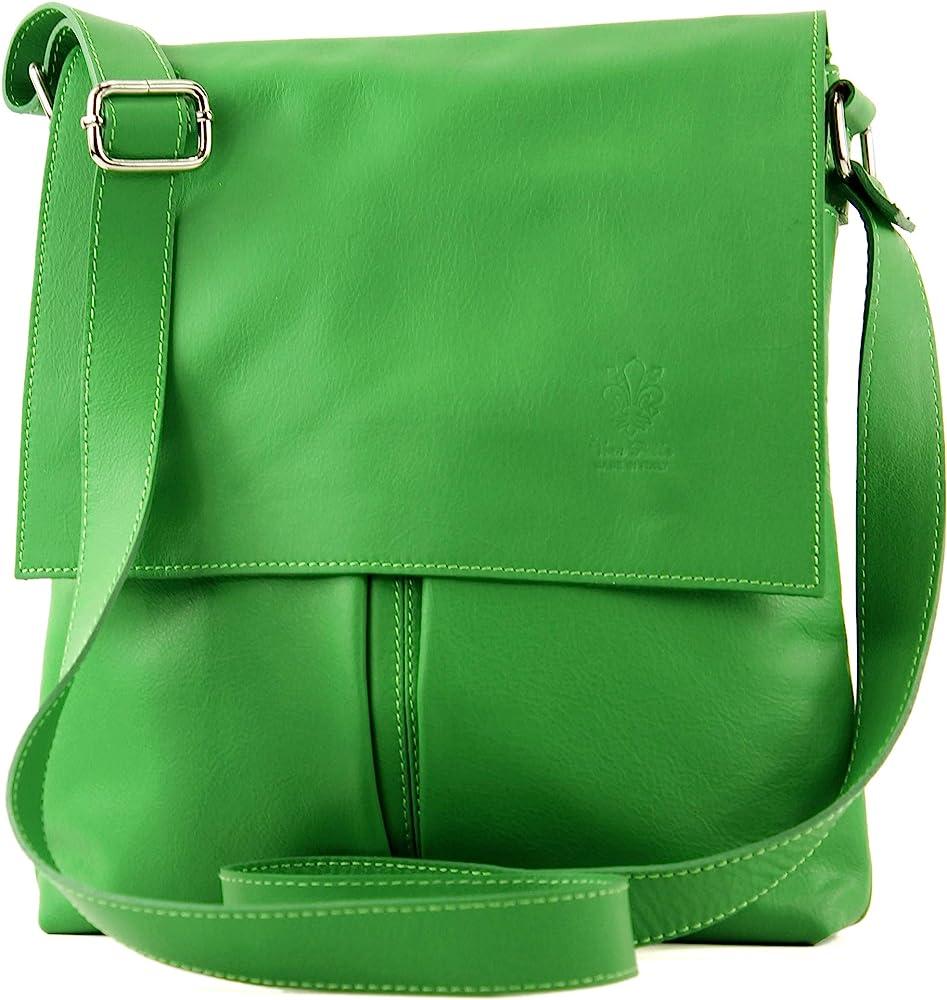 Modamoda de t75 – borsa a tracolla per donna, in  pelle morbia, verde T75BLATTGN_afn