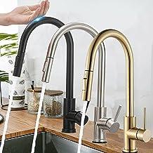 BuyB Torneiras de cozinha de aço inoxidável para retirar, torneira para pia de cozinha, misturador inteligente de indução,...