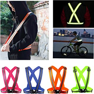 Comidox Reflective Vest with Hi Vis Bands, Fully Adjustable & Multi-Purpose: Running, Cycling, Motorcycle Safety, Dog Walk...