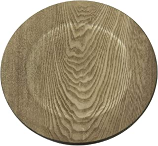 wood look charger plates