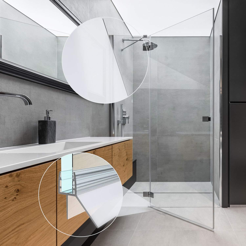 Juntas de caja de ducha, SS SHOVAN 2 Piezas 100cm Junta para Mampara de Ducha para Paredes de Vidrio de 6 a 8 mm: Amazon.es: Bricolaje y herramientas