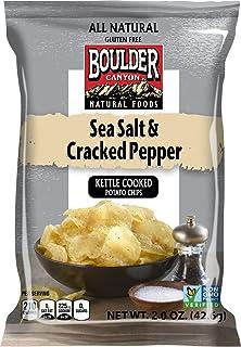 Boulder Canyon, Sea Salt & Cracked Pepper Kettle Cooked Potato Chips, 2.0 oz. (8 count)