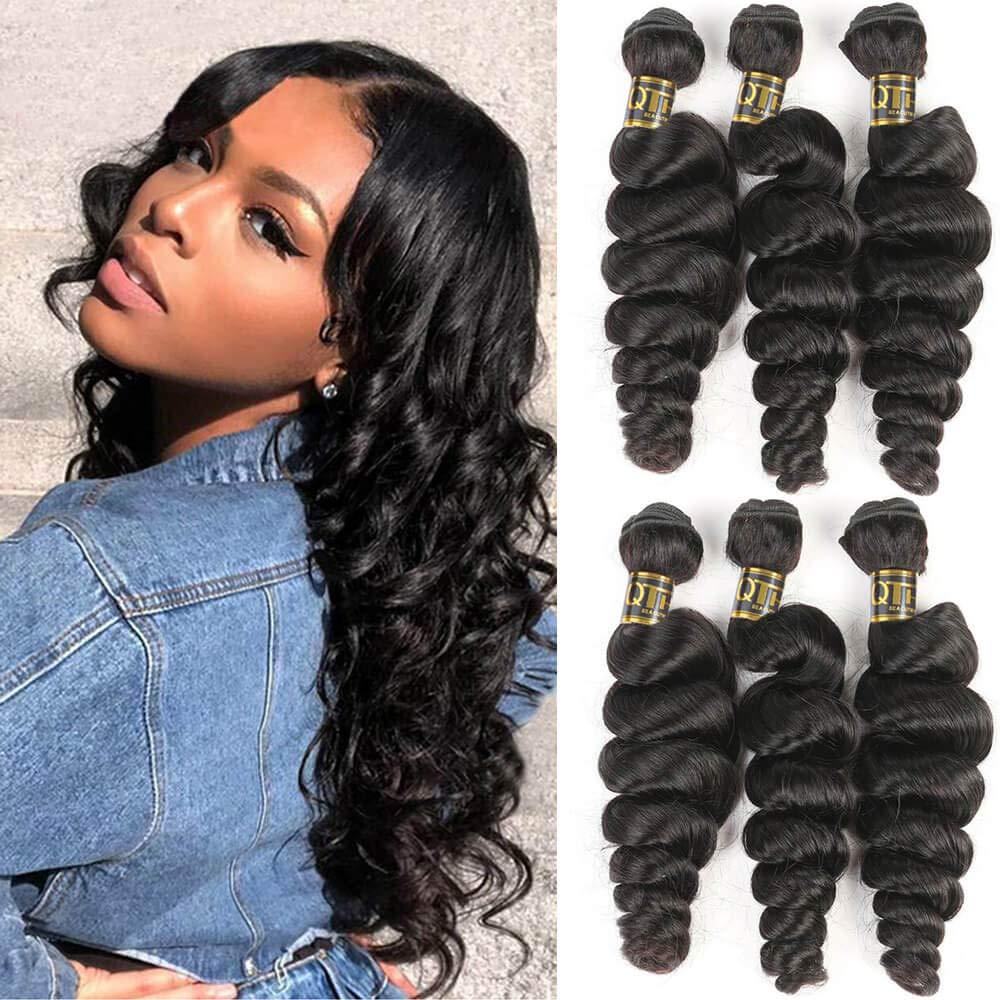 QTHAIR 12A Limited Superlatite time trial price Grade Brazilian Loose Wave Hair 26 Inch 28 Bundles 30