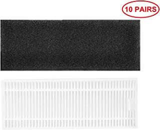 JJ Neumann Replacement Parts Filters Compatible with Coredy R500(1st Generation Only), Amarey A800, A900 Robot Vacuum Cleaner 10 Pairs