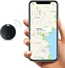 Safedome SD Mini Bluetooth Tracker, Smart Finder for Lost Keys, Wallets, Purses, and Bags. Small Bluetooth Phone Tracking Device with Replaceable Battery and Free Companion App - Black