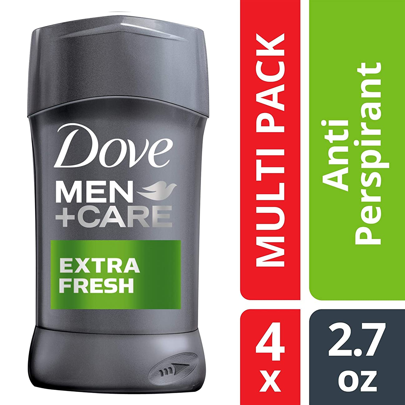 Dove Men+Care Antiperspirant Deodorant Stick, Extra Fresh, 2.7 oz, 4 count ( Packaging may vary ) zxlft848467