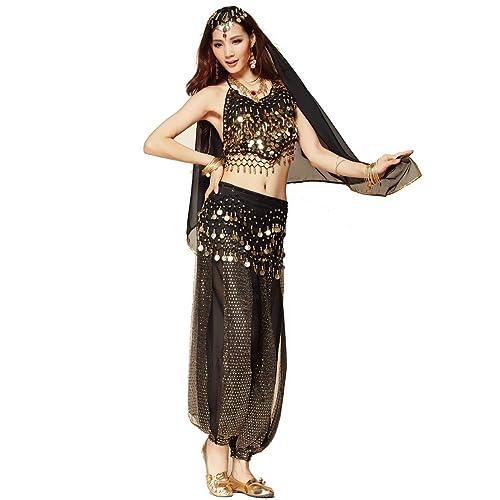 433b3969d6472 Best Dance Women Belly Dance Costume Set Black