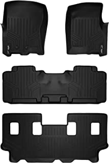 MAXLINER Floor Mats 3 Row Liner Set Black for 2011-2017 Expedition EL/Navigator L with 2nd Row Bench Seat Or Console