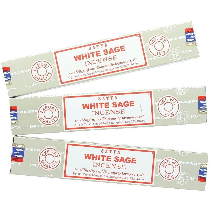 領事館ヘッドレス補償Satya Nag ChampaホワイトセージIncense Sticks?–?3パック