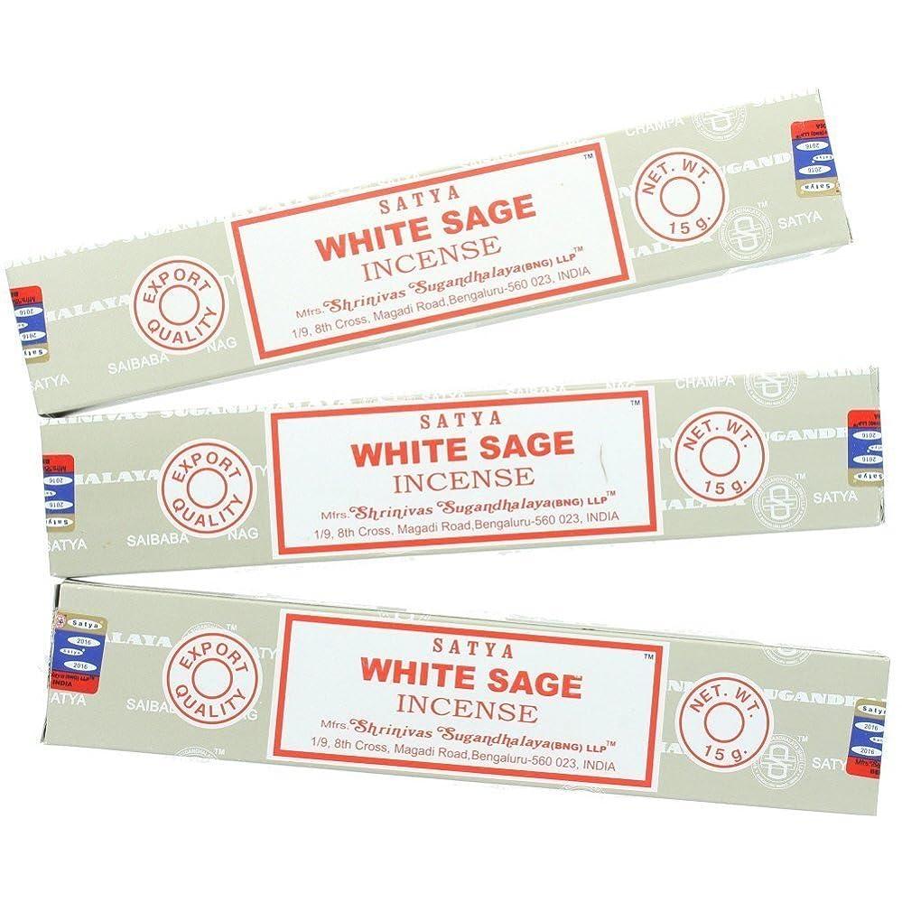 蒸留まろやかな買い手Satya Nag ChampaホワイトセージIncense Sticks?–?3パック