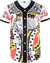 PIZOFF Unisex Mens Arc Bottom 3D Print Baseball Team Jersey Shirt