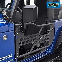 EAG Safari Tubular Door with Side View Mirror Fit for 07-18 Jeep Wrangler JK 2 Door Only