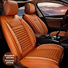Custom Car Seat Cover For Mitsubishi ASX Eclipse Grandis Montero Lancer Pajero Outlander Shogun Triton 5-Seat Car Seat Cushion Cover Full Set Needlework PU Leather Seat Pad Protector (cayenne)
