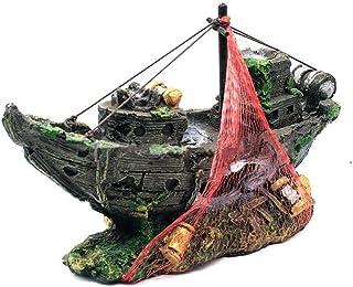 (リトルスワロー) LtSw アクアリウム アクセサリー 幻想的 装飾 魚も喜ぶ オーナメント 沈没船