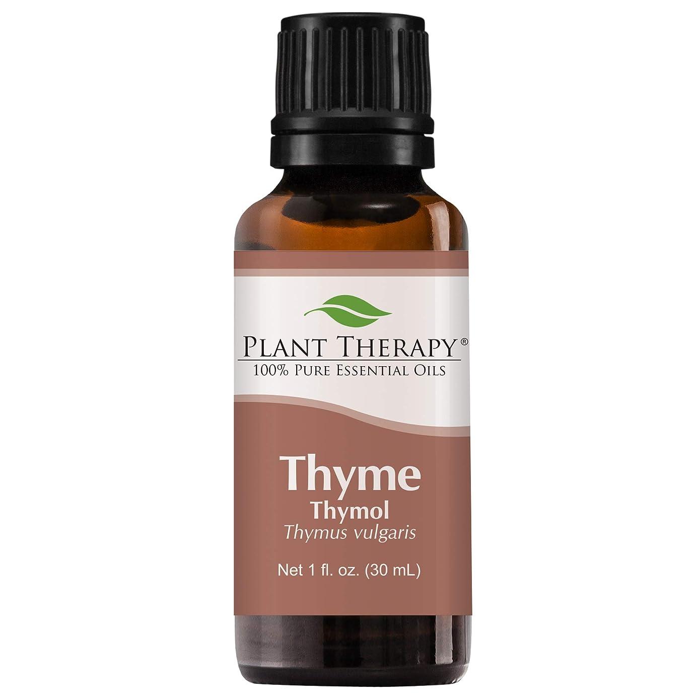 アルコールリードダニPlant Therapy Thyme Thymol Essential Oil. 100% Pure, Undiluted, Therapeutic Grade. 30 ml (1 oz). by Plant Therapy Essential Oils