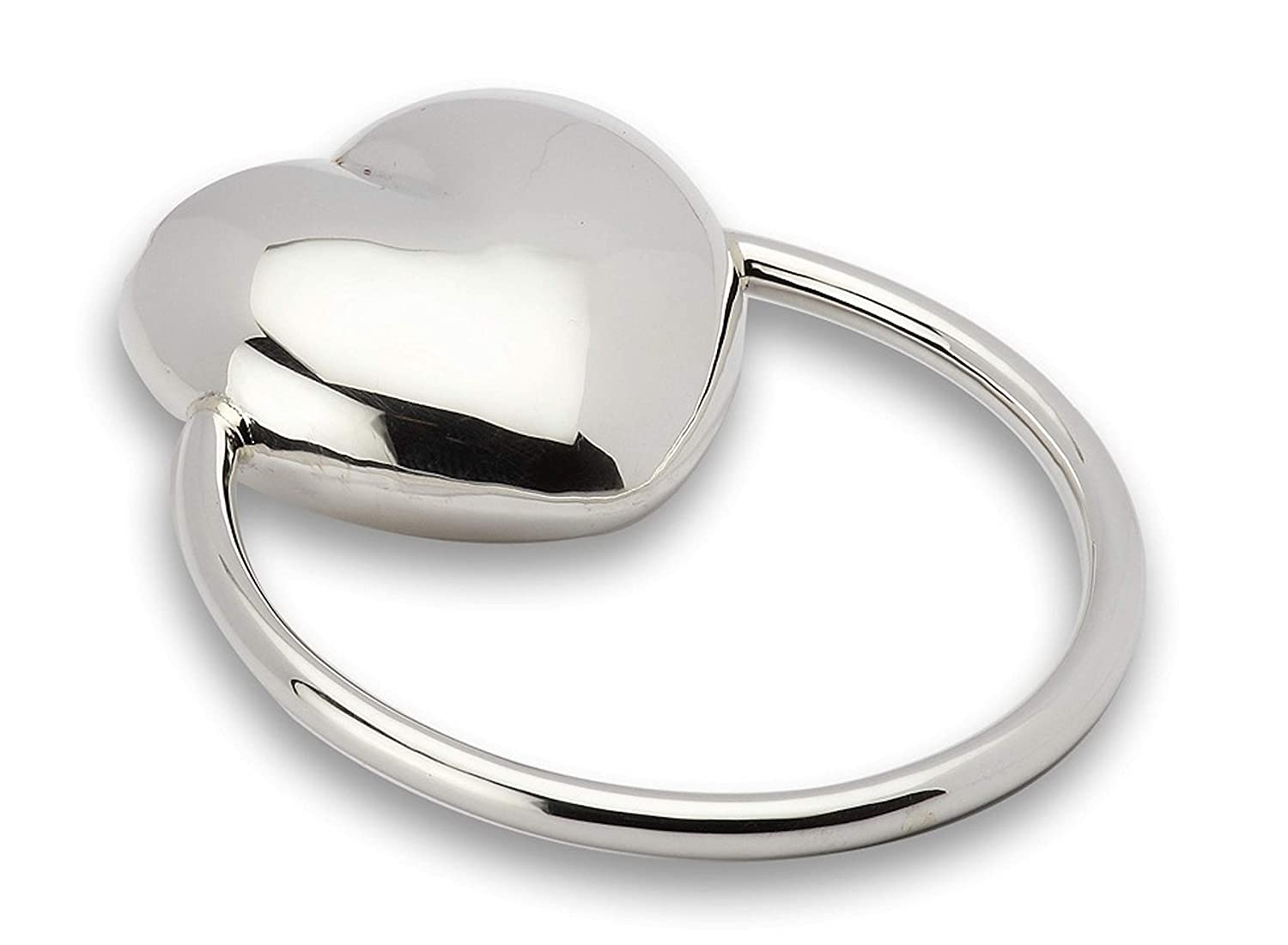 Krysaliis Sterling Silver Baby Charlotte Mall Max 77% OFF Heart Rattle Teether