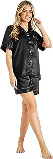 CityComfort Women's Pyjama Sets, Satin Pyjamas, Button Down Short PJs