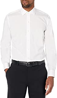 Buttoned Down mens Slim Fit Spread-collar Stretch Non-iron Dress Shirt