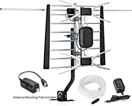 ViewTV WA-2800 Digital Amplified Outdoor/Indoor Attic HDTV Antenna with Mounting Pole - 150 Miles Range