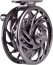 ANGLER DREAM AnglerDream Rider Fly Fishing Reel Large Arbor Smooth T6061 CNC Machined 2+1BB Hand Changeable Fly Reel 3/4 5/6 7/8 9/10wt Gold, Gunmetal, Black