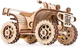 Wood Trick 3D Mechanical Model Kit ATV Quad Bike Motorcycle Wooden Puzzle, Assembly Constructor Brain Teaser Gears Set DIY