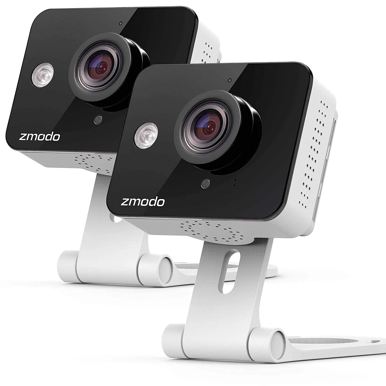 Zmodo Wireless Security Camera System (2 Pack) Smart HD WiFi IP Cameras with Night Vision (Renewed)