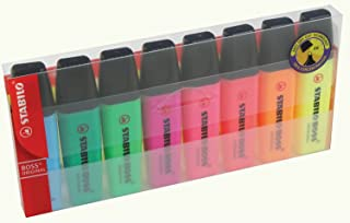 STABILO Boss Original Multi 8Pc (S) Marker–Markers (Multi, Multicolour, 2mm, 108mm, 18mm, 220mm)