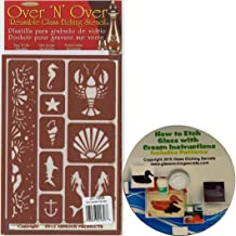 Over N Over Reusable Glass Etching Stencil, Under The Sea + Free How to Etch CD with Patterns