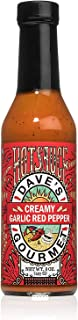 Dave's Gourmet Creamy Garlic Red Pepper Hot Sauce, Pack of 3